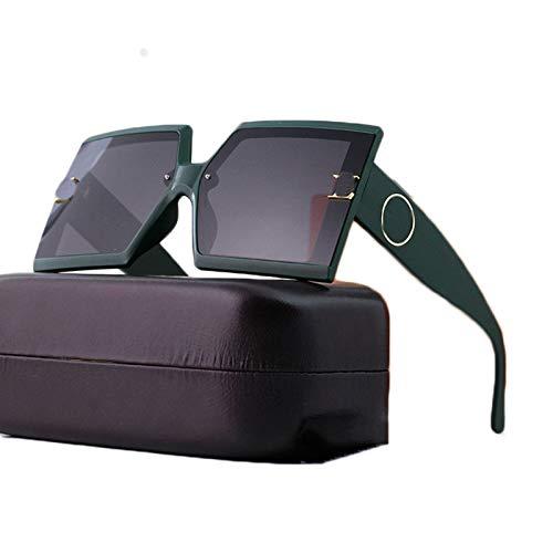 LK-HOME Gafas De Sol Polarizadas,Mujer Hombre Sunglasses Anti-Ultravioleta,Elegantes Marco Grande Ultraligeros Retro Adecuados Deportes Al Aire Libre Pilotos Conducción Conducción,Verde