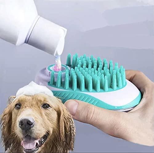 Cepillo de lavado para perros multiusos con un clic, pulveriza y lava champú y agua para baño y aseo
