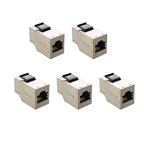 Cable Matters UL Listed 5-Pack RJ45 Shielded Cat6 Keystone Jack Coupler Gender Changer