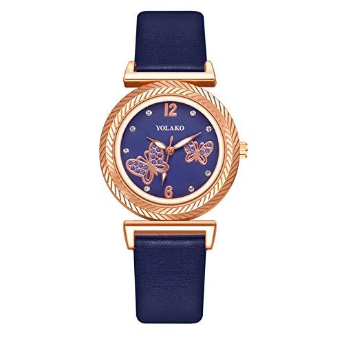 JZDH Relojes para Mujer Relojes para Mujeres, Accesorios de Color con Hebilla magnética, gradiente de Color, para Regalos, Mujeres. Relojes Decorativos Casuales para Niñas Damas (Color : Rose)