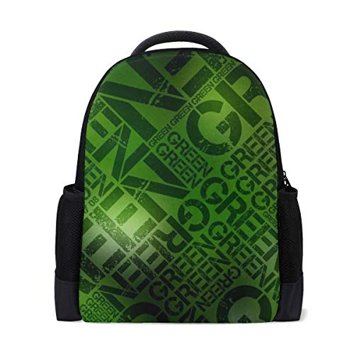 Texture Light Button Symbol Neon Bookbag School Backpack Luggage Travel Sport Bag