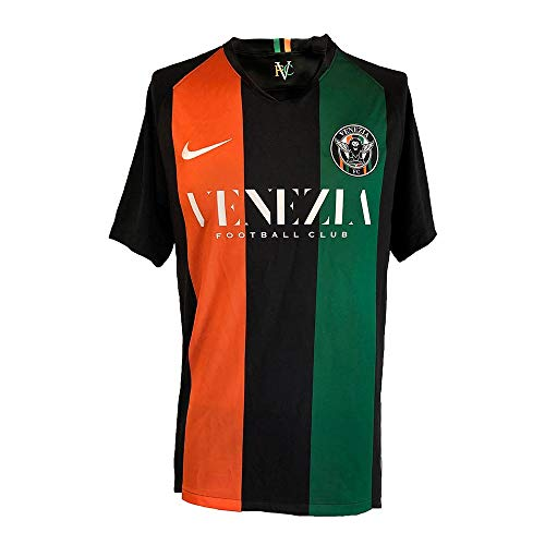 VENEZIA FC Unisex-Kinder Y Nk Dry Venezia JSY Hm Unterhemd, Black/Bright Mandarin/Pine Green/White, M