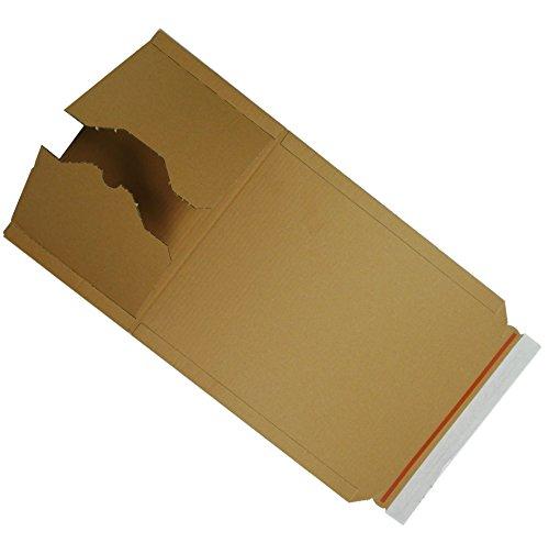 50 Stück Buchverpackung A4 Verpackung Buchkarton 300 x 220 x 80 Innenmaß