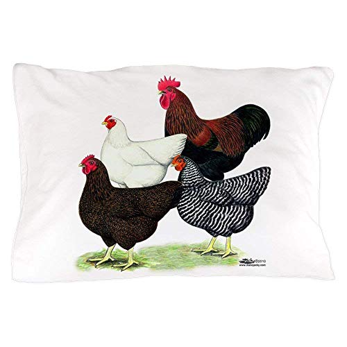 saletopk Plymouth Rock Hühner Kissenbezug - Standardgröße Kissenbezug, 20