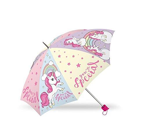 Kids Euroswan- Paraguas Plegable Unicornio, Multicolor, Talla Única (Kl10258)