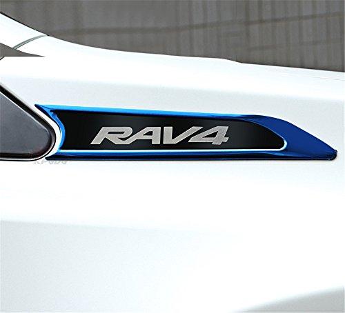 Ajuste para Toyota RAV4RAV 42013- 2018logotipo negro rejillas ventilación lateral rejilla parrilla…