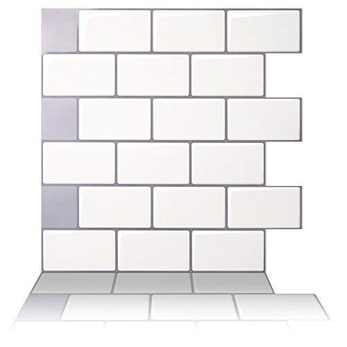 Tic Tac Tiles   Premium Anti Mold Peel And Stick Wall Tile In Subway Design  (