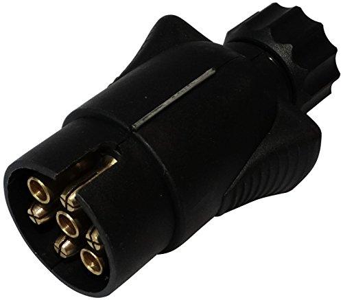 AERZETIX: Enchufe 7 Pin Macho Toma conectador de Remolque 7 broches 12V 10mm C12374 Enganche Haz cablea cableado Luces traseras Stop