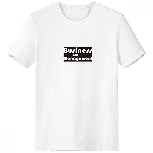 DIYthinker El Negocio Importante y de Primavera y Verano de Tagless Comfort Deportes Camisetas Regalo Gestión Negro Escote de la Camiseta Blanca - Multi - XXL