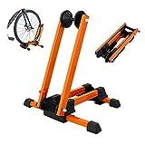 GORIX ゴリックス 自転車 スタンド L字型 20-29インチ 折りたたみスタンド (KW-30) (オレンジ)