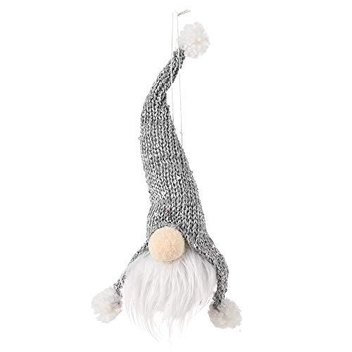 Xuanwei - Colgante de campana para hombre creativo con forma de muñeca sin cara, muñeca envejecida y gris