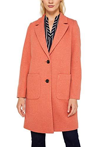 ESPRIT Damen 129Ee1G004 Mantel, Orange (Burnt Orange 815), Large (Herstellergröße: L)