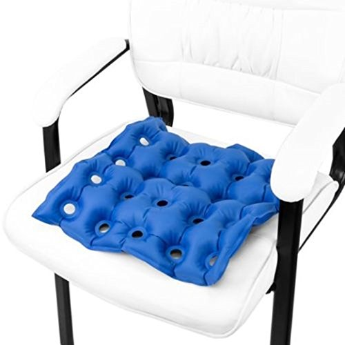 JYtop Medical Wheel Chair Air Cushion Inflatable Seat Mattress Anti Bedsore Prevent Decubitus Ideal for Prolonged Sitting with Pump FDA CE Approval 17 x 17 in