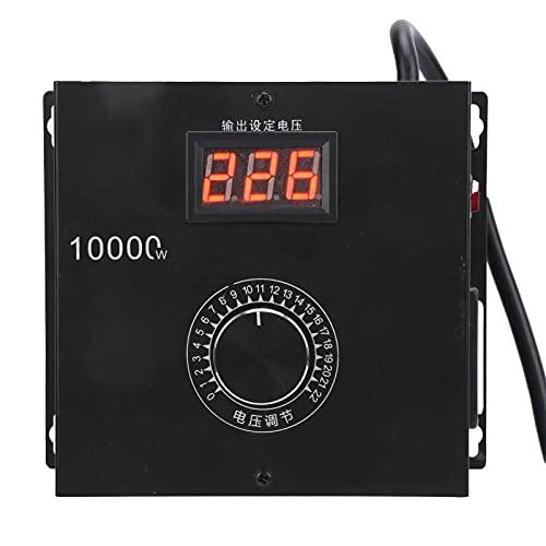 Regulador de voltaje Eujgoov SNT-10000W Convertidor de voltaje eléctrico para atenuación de velocidad y control de temperatura(EU Plug)