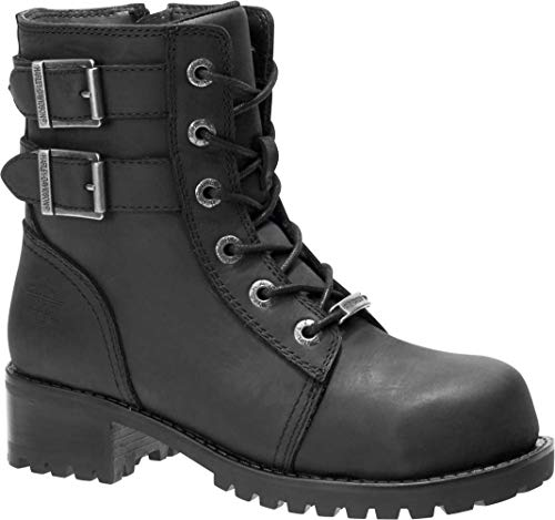 HARLEY-DAVIDSON FOOTWEAR Women's Archer ST Construction Boot, Black, 8