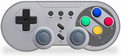 ZGYQGOO Manette Jeu Chargement, Manette Jeu à Vibrations, Manette Jeu Bluetooth à Distance, Jeux téléphone contrôlés, compatibilité pour commutateur/PC/Android, Gris argenté