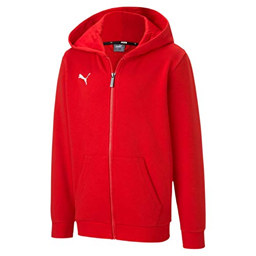 PUMA Jungen teamGOAL 23 Casuals Hooded Jacket Jr Trainingsjacke, Red, 176