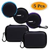 Best Earbud Cases - Anezus 5 Pack Earbuds Earphone Headset Headphone Carrying Review