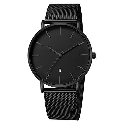 Infinite U-Watch Impermeabile per Gli Uomini Orologi Analogici al Quarzo Orologi Lussuosi Moda Casual Orologio Rotondo Nero Data Resistente all'acqua