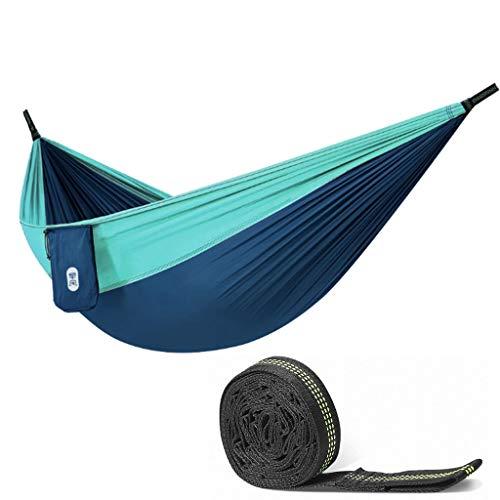 Hamacas Mobiliario de Camping Bicolor Aire Libre Adecuado for múltiples escenas Conveniente Almacenamiento cómodo y Transpirable de Carga 300kg (Color : Blue, Size : 270 * 140cm)