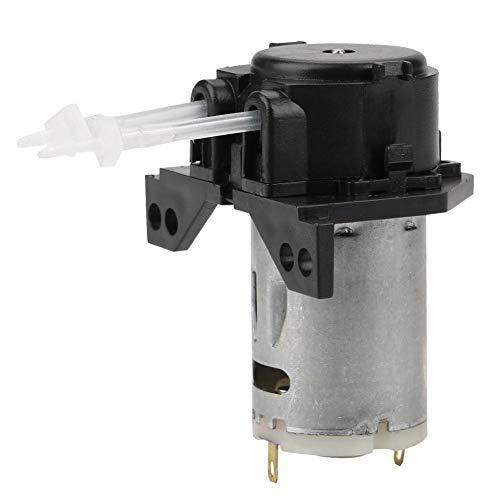 DC 12 V/24 V Bomba de dosificación peristáltica cabeza de tubo peristáltico bricolaje para análisis químico de laboratorio de acuario (negro 12 V, 1 x 3)