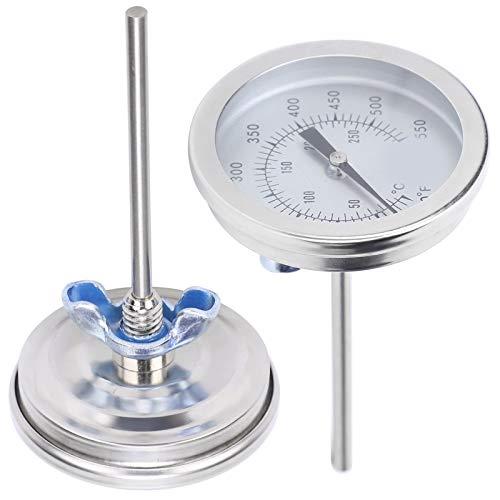 Termómetro, 50-550 ℉ 5 / 16UNC Termómetro de horno de lectura instantánea Fry Chef Termómetro para ahumado Termómetro de cocina para cocinar Dial grande para hornear barbacoa