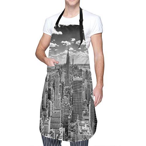 Ajustable Personalizado Delantal Impermeable,NUEVA YORK - CIRCA MAYO 2013 El horizonte de Nueva York dominado por el Empire State Building, alrededor de mayo de 2013,Babero de Cocina con 2 Bolsillos