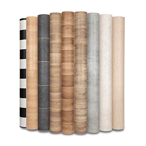 CV Bodenbelag Atlantic Malaga - extra abriebfester PVC Bodenbelag (geschäumt) - Malaga anthrazit - edle Fliesenoptik - Oberfläche strukturiert - Meterware (200x150 cm)