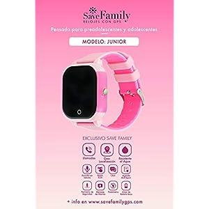 Reloj con GPS para niños Save Family Modelo Junior Acuático Negro. Smartwatch con botón SOS, permite llamadas y mensajes. Resistente al agua Ip67. APP propia SaveFamily. Incluye Cargador