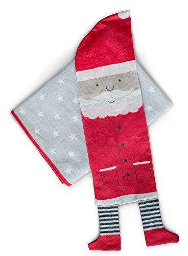 David Fussenegger - Luca Set, Decke in Hülle Weihnachtsmann rot 140 x 200 cm