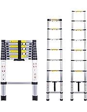 Escalera telescópica multiusos de aluminio portátil Escalera plegable y extensible EN131 y normas CE(2.6M)