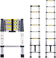 Acrohome 4.9M Telescopic Ladder Multi-Purpose Aluminium Portable Telescoping Extension Ladders Foldable Ladder for Indoor...