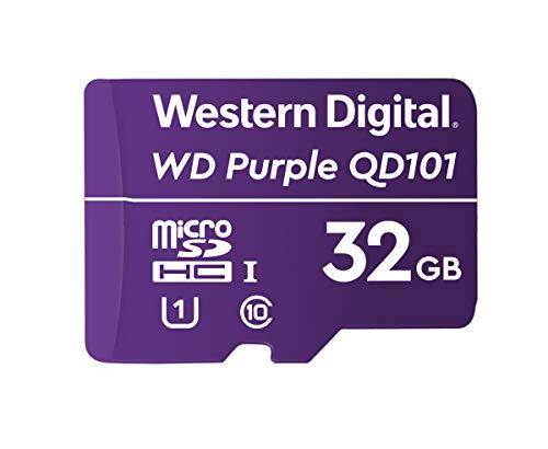 Western Digital WD Purple SC QD101 32GB Smart Video Surveillance microSDHC Card, Ultra Endurance Up to 16 TBW