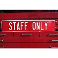 STAFF ONLY メッセージ サイン 看板 エンボス プレート 警告
