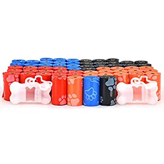 Best Pet Supplies Dog Poop Bags for Waste Refuse Cleanup, Doggy Roll Replacements for Outdoor Puppy Walking and Travel, Leak Proof and Tear Resistant, Thick Plastic - Mixed Colors, 900 Bags 14