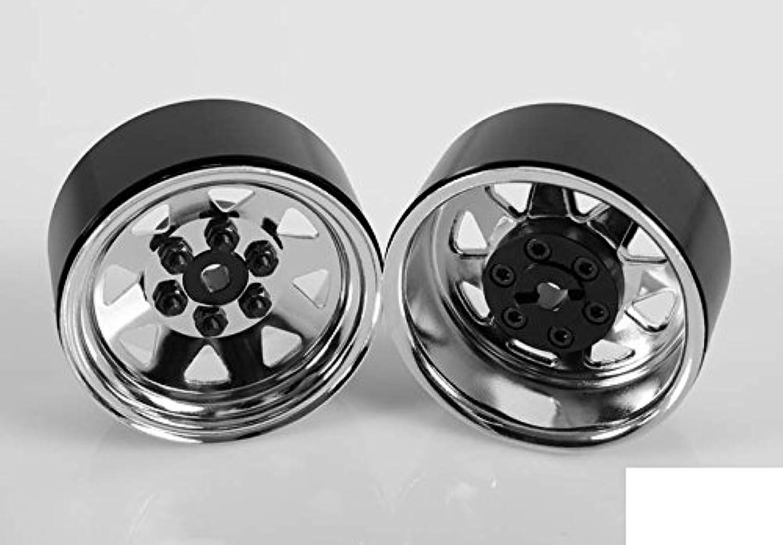 exclusivo RC4WD 6 6 6 Lug Wagon 1.9 Scale Steel Stamped Beadlock Wheels Chrome Pin Mount Z-W0002  precios bajos
