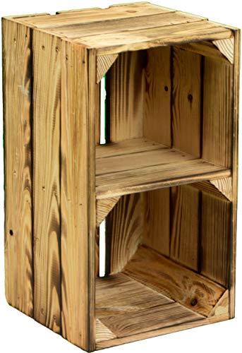 Garten Deko Balkondeko Regalkiste Holzkisten mit Mittelbrett Beistelltisch …