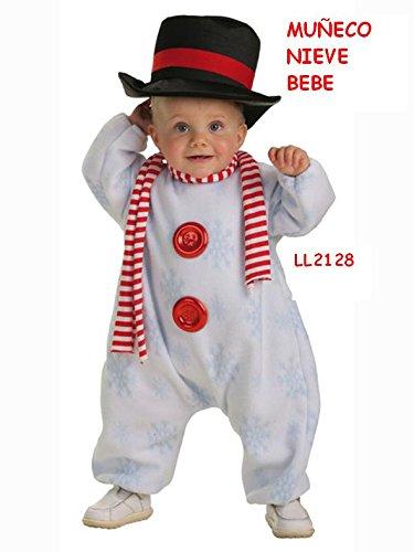 Disfraz de Muñeco de nive con Bufanda Bebe