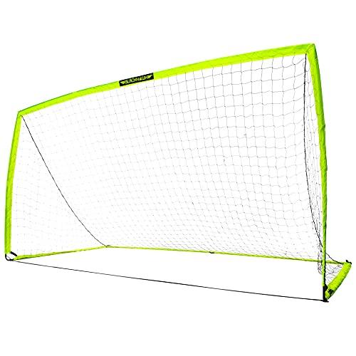 Franklin Sports Blackhawk Portable Soccer Goal - Pop-Up Soccer Goal and Net - Indoor or Outdoor Soccer Goal - Goal Folds For Storage - 12' x 6.5' Soccer Goal