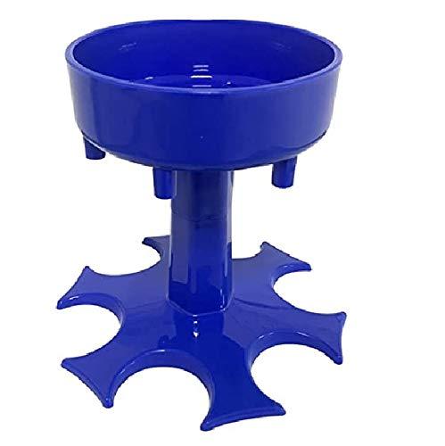 6 Shot Glass Dispenser and Holder -Dispenser For Filling Liquids, Shots Dispenser, Multiple 6 Shot Dispenser, Bar Shot Dispenser, Cocktail Dispenser, Suitable for parties (Blue)