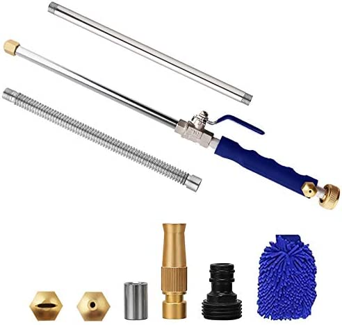 Yiliaw Extendable Hydro Jet Washer High Pressure Power Washer 38 Wand Water Hose with Nozzle product image