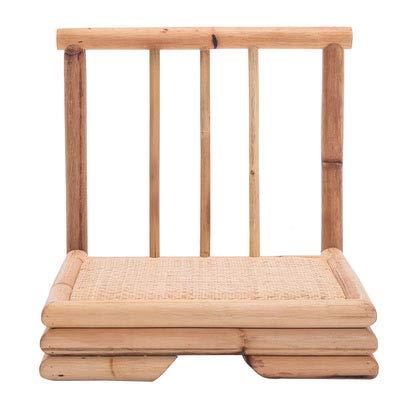 Vintage Kongfu Teetisch Rattan Indoor Bambus Möbel Bodentisch Tatami Kaffee/Tee Wohnzimmer Bambustisch Im Asiatischen Stil,Seat x2pc