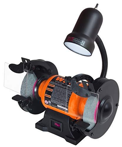 WEN 4276 2.1-Amp 6-Inch Bench Grinder with Flexible Work Light