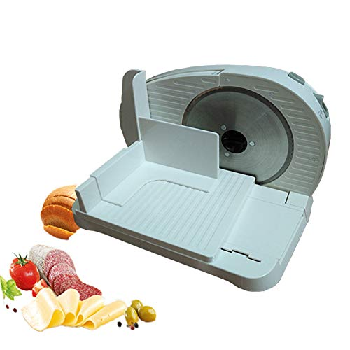 Mini affettatrice elettrica per uso domestico, carne congelata semiautomatica elettrica, manzo, agnello, patate, fette, taglierina, affettatrice pieghevole