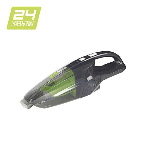 Greenworks Tools 4700007 handstofzuiger, draadloos, Li-Ion, zonder accu of oplader, 24 V, groen