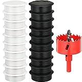 33-Piece Desk Grommet Set, Including 20 Black and...