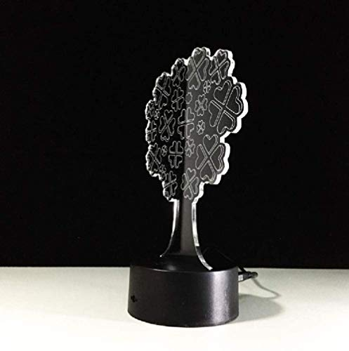3D Led Lamp Night Light Atmosphere Lucky Tree Touch USB for Kids Baby Sleeping Projector