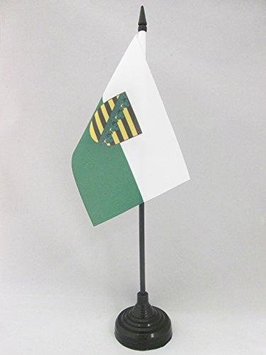 AZ FLAG TISCHFLAGGE Sachsen 15x10cm - Sachsen TISCHFAHNE 10 x 15 cm - flaggen