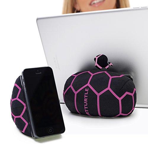 SmartTurtle multifunktionale iPad Halterung, Made in Austria, Sitzsack für Smartphone, Handy, eReader, Tablet, iPhone, iPad Air 1/2/3/4, Samsung Note Galaxy für Tisch, Bett, Sofa, Auto uvam - pink