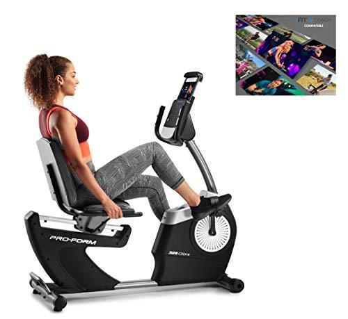 Proform Vélo d'appartement semi-allongé, assise avec dossier, compatible Bluetooth Appli iFit Cardio - 325 CSX+